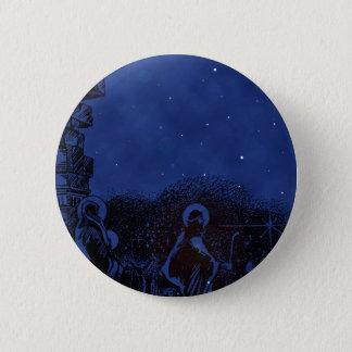 De sterrige Geboorte van Christus van de Nacht Ronde Button 5,7 Cm