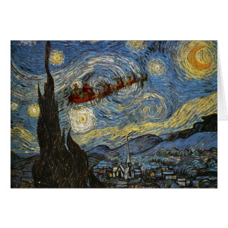 De sterrige Kaart van de Kerstnacht