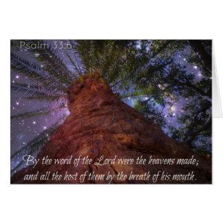 De Sterrige Nacht van het 33:6 van de psalm Kaart