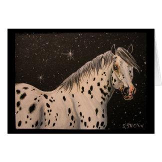 De Sterrige Nacht van het Paard van Appaloosa Kaart
