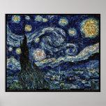 """De Sterrige Nacht van Hubble (29.3 """" x24"""") Poster"""