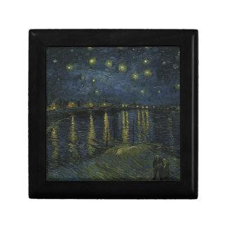 De Sterrige Nacht van Vincent van Gogh over het Decoratiedoosje