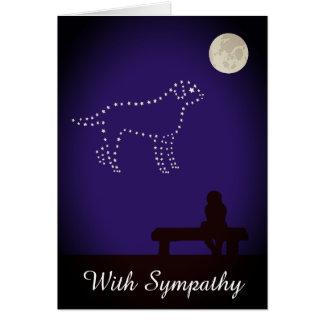 De sterrige Sympathie van de Hond van de Labrador Kaart