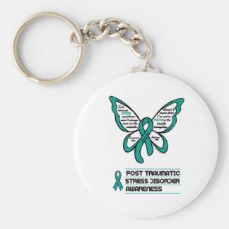 De steun/de Liefde/gelooft… PTSD Basic Ronde Button Sleutelhanger
