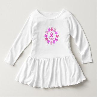 De steun van de kankervoorlichting van de borst baby jurk
