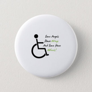 De Steun van de Liefde van de Rolstoel van de Gift Ronde Button 5,7 Cm