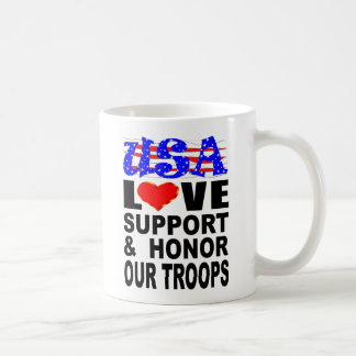 De Steun van de Liefde van de V.S. en eert Onze Koffiemok
