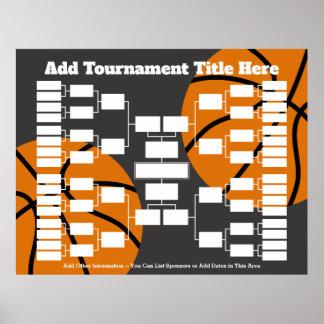 De Steun van de Toernooien van het basketbal Poster