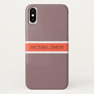 De stevige Elegante Naam van het Lint van de iPhone X Hoesje