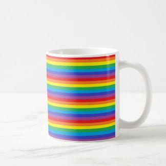 De stevige Strepen van de Regenboog Koffiemok