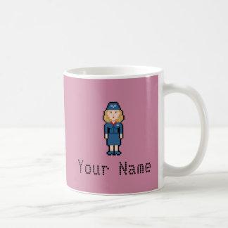De Steward van het Pixel van de Naam van de douane Koffiemok