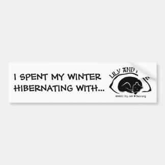 De Sticker die van de bumper - met Lelie hibernere