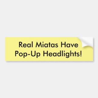 "De Sticker ""Echte Miatas van de Bumper van Miata"