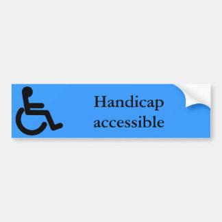 De Sticker Handicap van de bedrijfs van de Bumpersticker