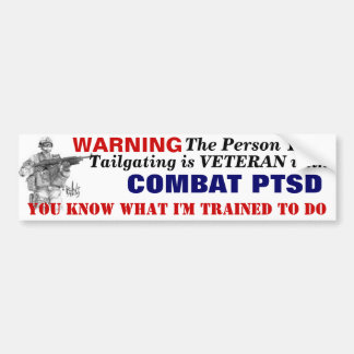 De Sticker PTSD van de bumper
