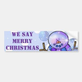 De sticker-Sneeuwman van de bumper Gelukkige Kerst Bumpersticker