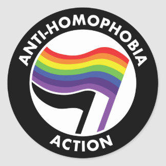 De Sticker van anti-Homophobia Antifa