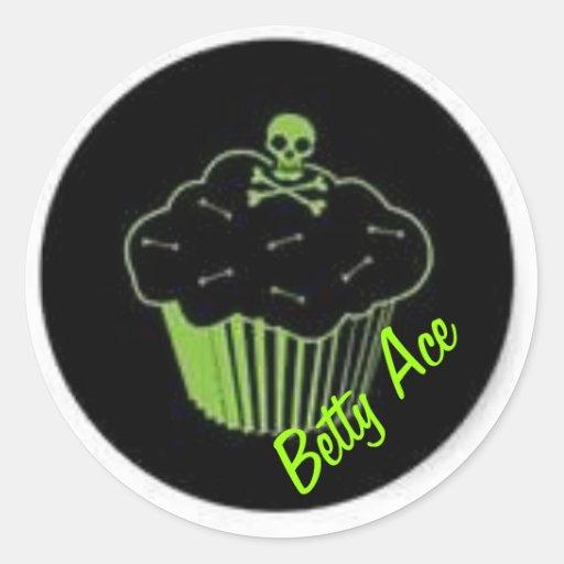 De Sticker van Cupcake van het vergift