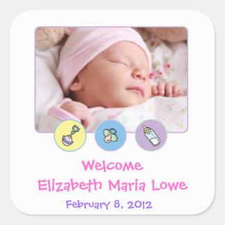 De Sticker van de Aankondiging van de Geboorte van