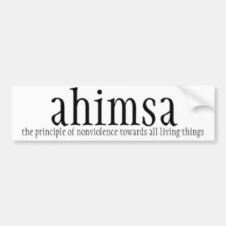 de sticker van de autobumper - ahimsa