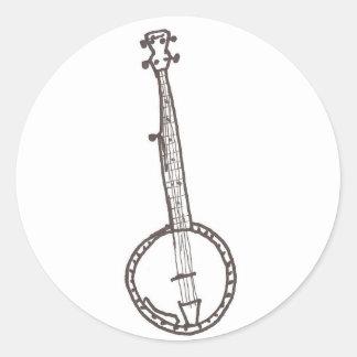 De Sticker van de banjo