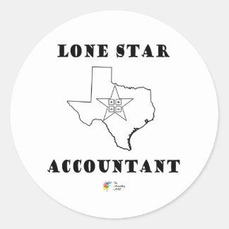 De Sticker van de boekhouding - de Eenzame