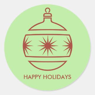 De Sticker van de Bol van Kerstmis