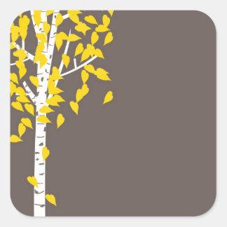 De Sticker van de Boom van de Esp van de Herfst