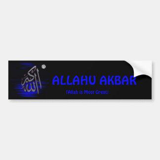 De Sticker van de Bumper ALLAHU AKBAR