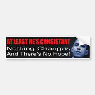 De Sticker van de Bumper anti-Obama