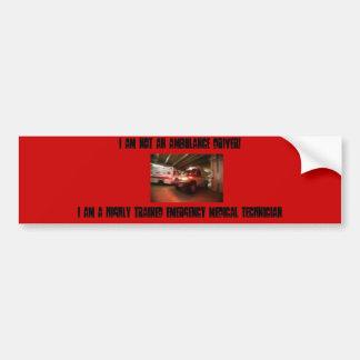 De Sticker van de Bumper EMT