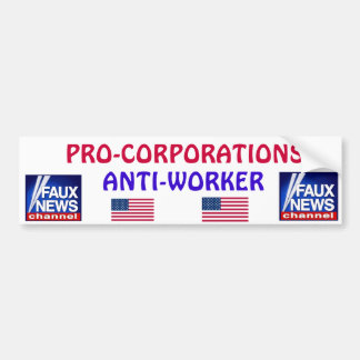 De Sticker van de Bumper FAUX NEWS*
