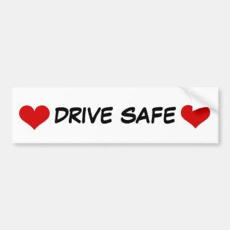 De Sticker van de bumper met de Rode Veilige