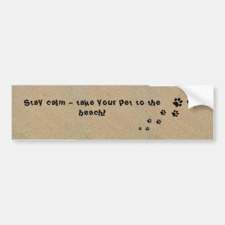 De Sticker van de bumper - neem Uw Huisdier aan Bumpersticker