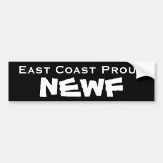 De Sticker van de Bumper NEWF