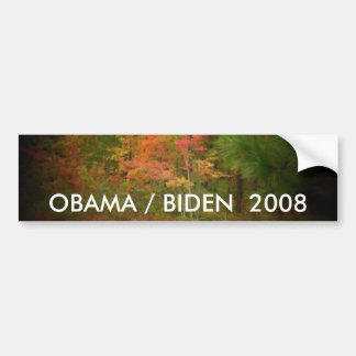 De sticker van de Bumper OBAMA