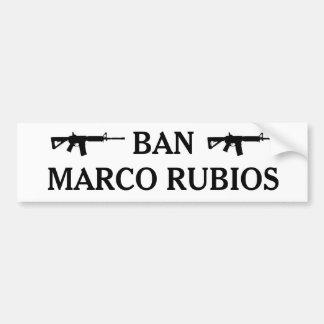 De Sticker van de Bumper RUBIOS van het VERBOD