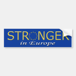 De Sticker van de bumper Sterker in Europa 2