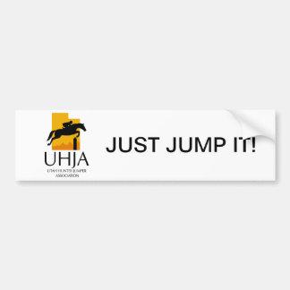 De Sticker van de Bumper UHJA