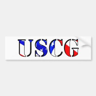 De Sticker van de Bumper USCG