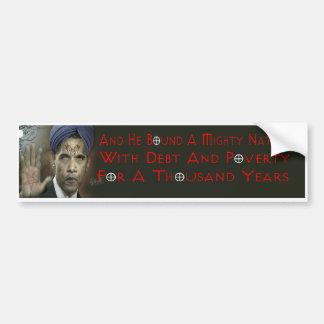 De Sticker van de Bumper van anti-Christus van Oba