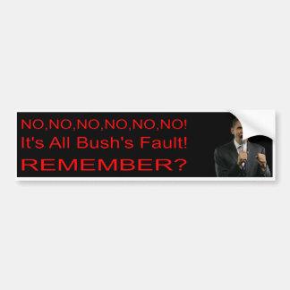 De Sticker van de Bumper van anti-Obama/van de