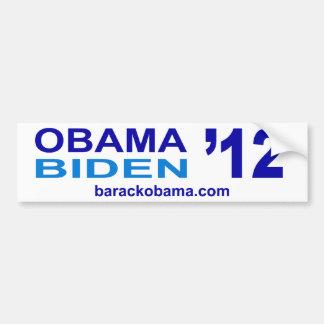 De Sticker van de Bumper van Biden 2012 van Obama Bumpersticker