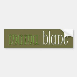 De Sticker van de Bumper van Blanc van mamma's Bumpersticker