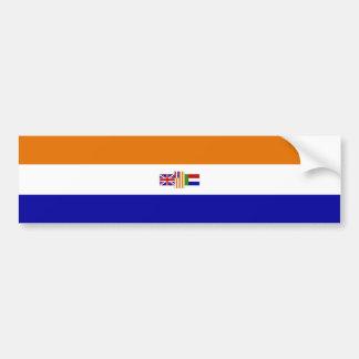 De Sticker van de Bumper van Blanje Blou van Oranj