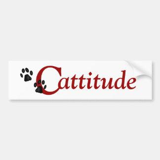 De Sticker van de Bumper van Cattitude van de Pote
