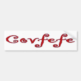 De Sticker van de Bumper van Covfefe
