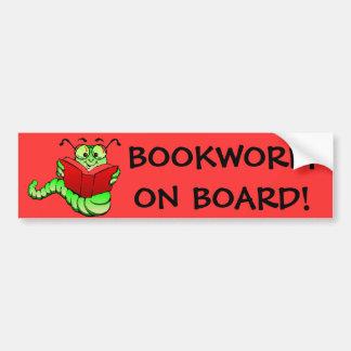 De Sticker van de Bumper van de boekenwurm