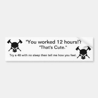 De Sticker van de Bumper van de brandbestrijder