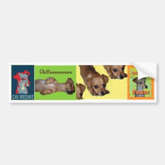 De Sticker van de Bumper van de chi -chi-weenie